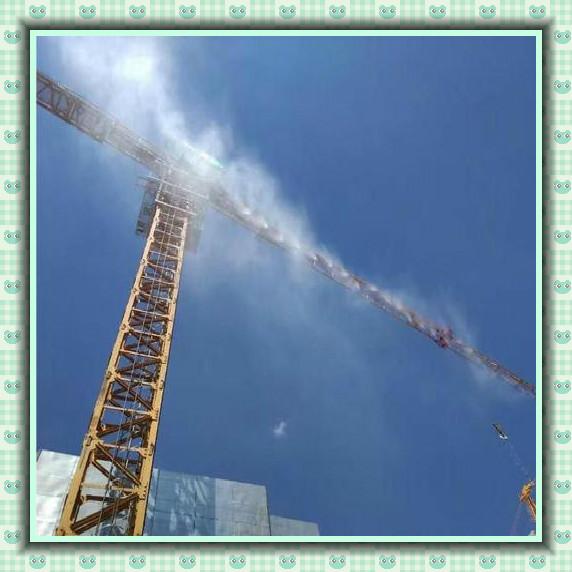 工地塔吊喷淋图片